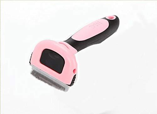 Fellpflegebürste für Hunde und Katzen, entfernt Haare, entfernt Haare, Kämme für Haustiere und Katzen, reduziert effektiv Haarausfall (L, Rosa)