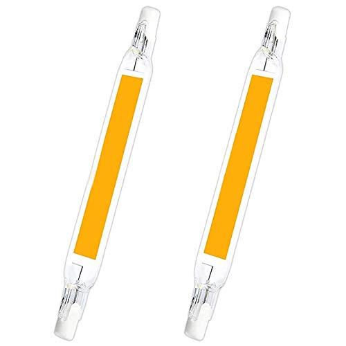 COMY Bombilla LED Regulable R7S, 20W 189mm 230V COB Regulable LED R7S Base de lámpara Reflector Luz Lineal, ángulo de Haz de 360 °, 2000LM, Pack de 2,Cool White