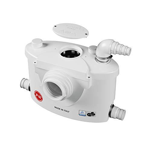 Planus Spa-Broysan 4 UP-IP68 - Caja para trituradora de inodoro, antiolor y silencioso, certificación IP68, 230 V, color blanco