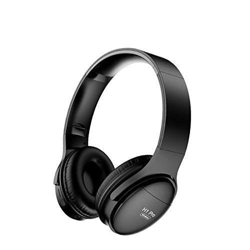 Audífonos Inalámbricos Auriculares Bluetooth HiFi Estéreo Auriculares inalámbricos para Auriculares Auriculares de Oriente Cancelación de Ruido con Soporte de micrófono (Color : H1 Pro Black)