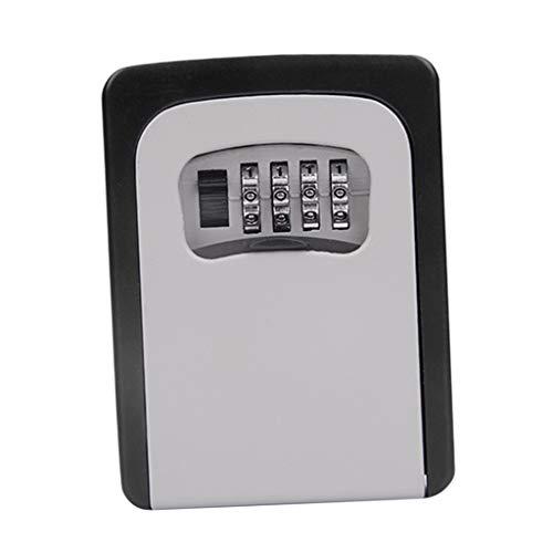 Schlüsseltresor, Wandmontage Schlüsselsafe Schlüsselbox mit 4-stelligem Zahlencode für Häuser, Büros, Fabriken Schlüssel-Hohe Sicherheit - Grau