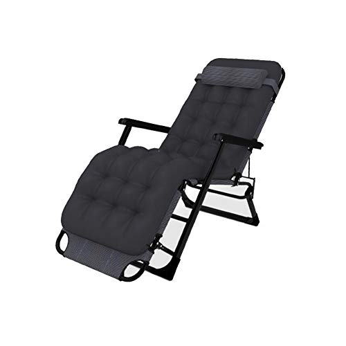 ZSPSHOP Opvouwbare stoel Zon ligstoel liggende opklapbare slaapbank ligstoel chaise longue kussen tuin