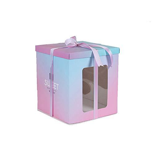 WLQWER 10 Cajas de Pastel de panadería de 6 Pulgadas, Cajas de Regalo, Caja de Pastel de panadería Grande con Caja de Embalaje de cartón para Hornear, Muffins para niños, Galletas, Bodas,L