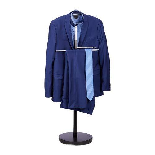 Relaxdays dressoir, kledingstandaard van hout en metaal, kledingbutler vrijstaand, h x b x d: ca. 114 x 46 x 30 cm, zwart