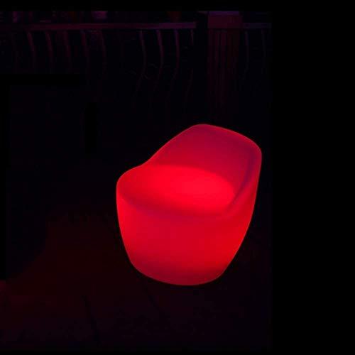 Ygetas Barra de luz LED a Prueba de Agua Mesa con Sillas Mesas de luz LED de heces Silla Cambio de Color del Estado de ánimo del Partido Stand de Seat Recargable de Muebles for el Partido Bar Jardín
