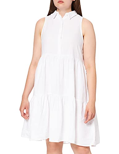 REPLAY W9672 .000.84072G Vestido, Blanco (001 White), S para Mujer