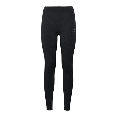 Odlo BL Bottom Long Performance Warm Pantalon Femme Black - odlo Concrete Grey FR : S (Taille Fabricant : S)