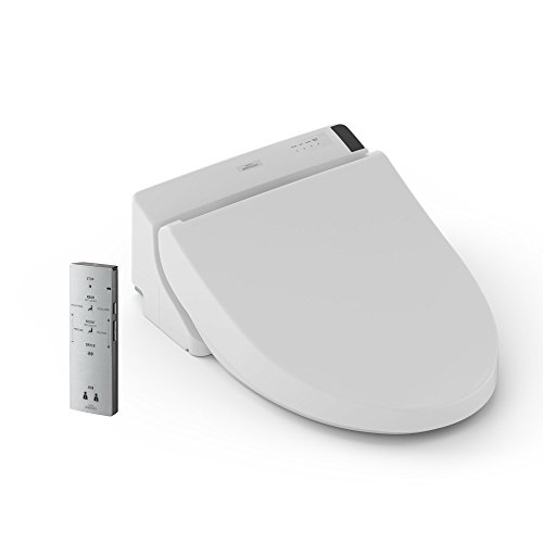 TOTO SW2043#01 C200 WASHLET Electronic Bidet Toilet Seat with Premist and SoftClose Lid, Round, Cotton White