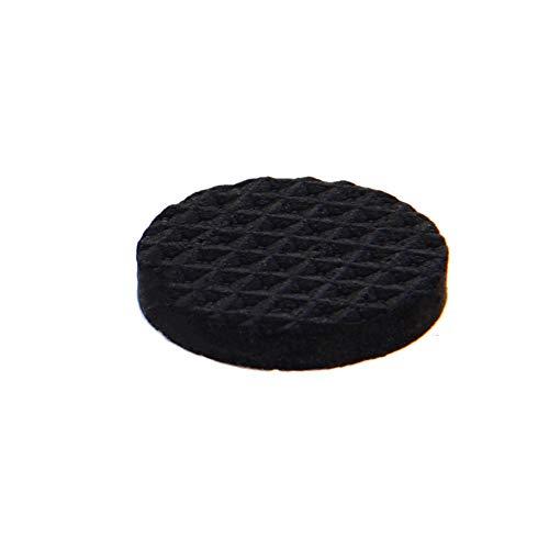 MroMax Furniture Pads Adhesive EVA Pads 25mm Dia 4mm Thick Round Black 28Pcs