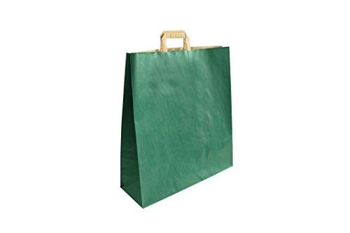 Carte Dozio - Shopper in Sealing color Verde, maniglia piatta, f.to cm 45+15x49, cf 25 pz