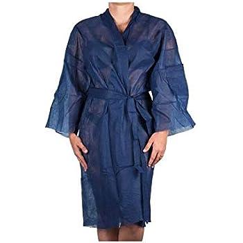 Kimonos Desechables Azul en TNT Ideal Para Peluquerías, Spa ...