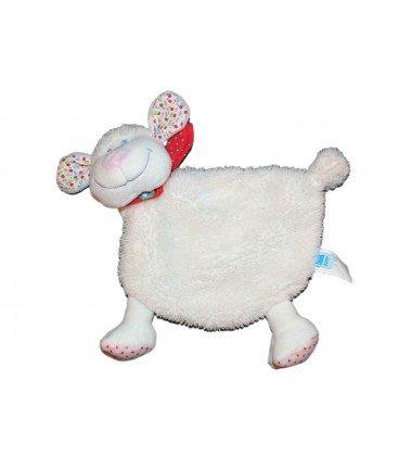 Doudou plana oveja cordero blanco Tex Baby Nicotoy Carrefour CMI
