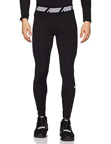 Puma Energy Tech Tight, Pantaloni Compressione Uomo, Nero Black, L