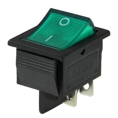 GUOLIANG Interruptores de botón eléctrico de Coche Interruptor de DIY Red Light-Off en Eje de balancín for Racing Sport (5pcs) (Color : Green)