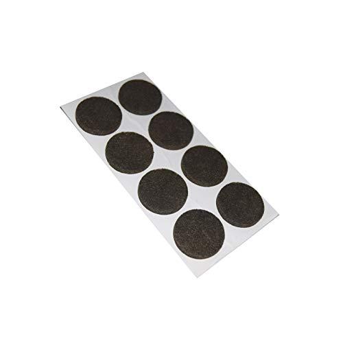 Almohadillas adhesivas redondas de 24 mm de diámetro, color marrón, 8 unidades.