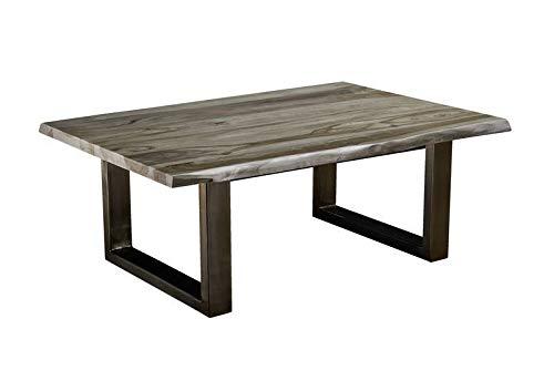 Table Basse 120x80cm - Bois Massif de Palissandre laqué (Smoked Oak) - Freeform #0319