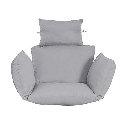 YLLQXI Schaukel Hängesessel Sitzpolster, Lounge Hängekorb Schaukel Sessel Kissen, rutschfeste weiche hängende Ei Hängematte Stuhlpolster für Patio Garden, Nicht abnehmbar