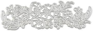 NCQ Max 41% OFF DiyArts Flower Border Metal Cutting Dies Virginia Beach Mall Branch Floral Frame