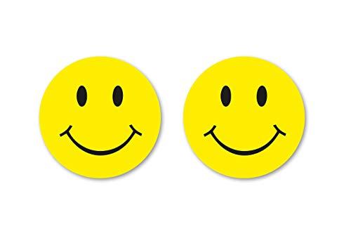 Aufkleber Set Smilie Smiley Gelb Sticker Smile Autoaufkleber Waschstrassenfest UV-Beständig Premium Edition