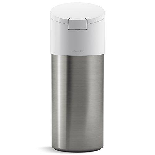 KOHLER Kitchen Disinfecting Wipes Dispenser, Stainless Steel, White