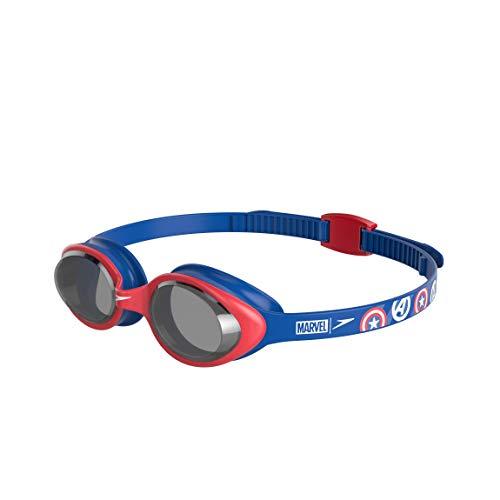 Speedo 811617C837 Gafas de Natación, Unisex niños, Azul Marino/Rojo (Lava/Ahumado), Talla Única