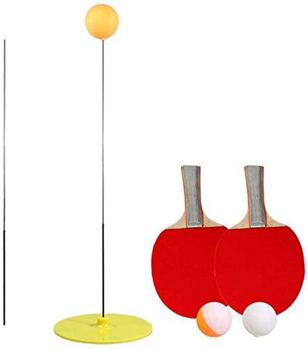 ytrew - Juego de tenis de mesa con caña elástica elástica de 90 cm de descompresión deportiva 2 tenis de mesa y 3 pelotas de ping pong, juego para interiores y exteriores