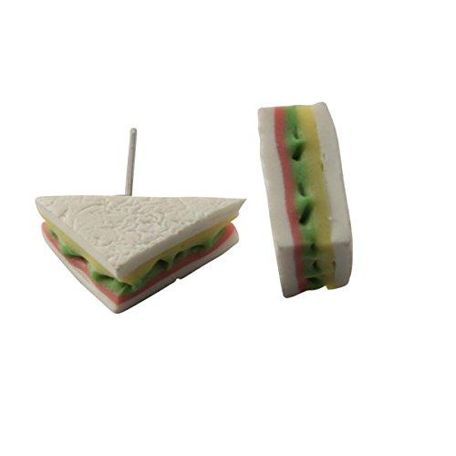 Freak Scene® Ohrringe ° Ohrstecker ° lecker Essen ° Modell: Sandwich - Halber Toast