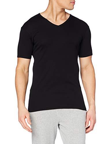 Eminence - T-Shirt - Col V - Les Classiques - Taille L - Homme - Noir - 100% Coton hypoallergénique