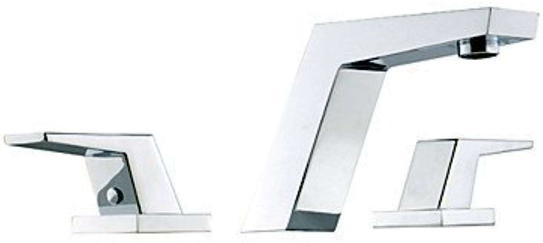 XINXI HOME Basin Tap Chrome Finish Widespread Bathroom Sink Faucets(Two Handles) Bathroom Faucet Basin Mixer Tap