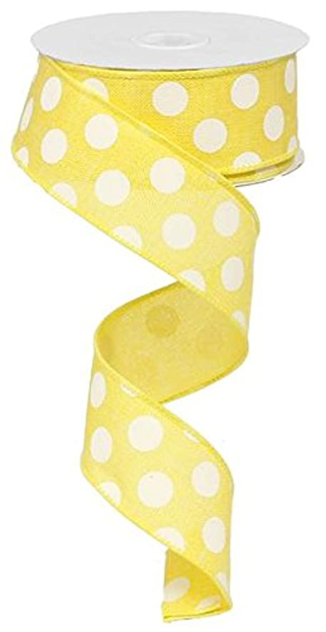 Polka Dot Wired Edge Ribbon (1.5