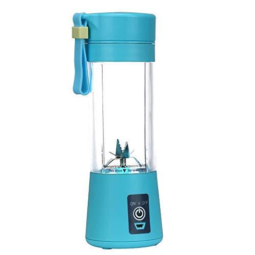 DIHAO Licuadora Personal, Vaso exprimidor portátil/Mezclador de Frutas/batidora de Zumo USB, Recargable, Seis Cuchillas en 3D para una excelente Mezcla, Recargable de 2000 mAh