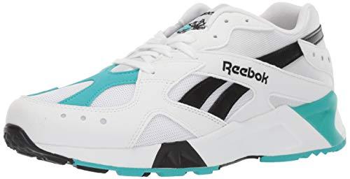 Reebok Unisex Adult's AZTREK Sneaker, White/Solid Teal/Black, 10 M US