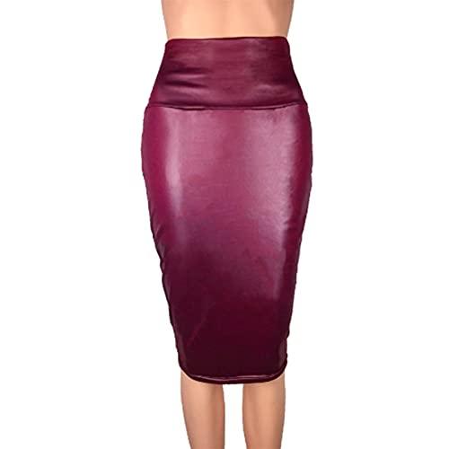 without logo Nuevo Bolsa de Cintura Alta y Sexy de Moda Sexy de Las Mujeres. (Color : Burgundy, Size : S)