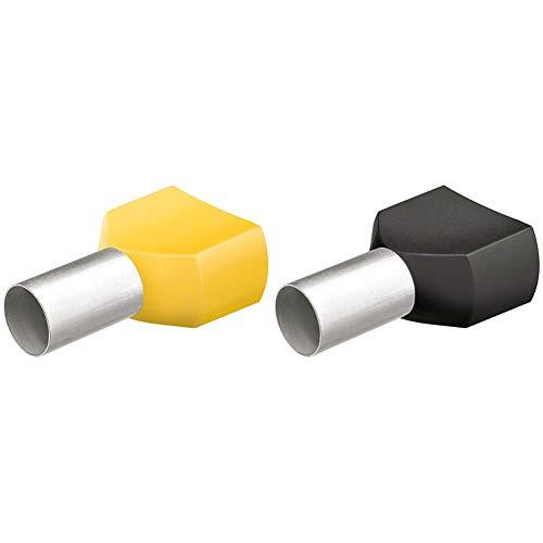 KNIPEX Punteras huecas Twin con collar de plástico 50 unidades de cada tipo 97 99 376 + Punteras huecas Twin con collar de plástico 200 unidades de cada tipo 97 99 373