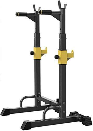 WXking Inicio Equipos de sentadillas Rack Soportes de banco ajustable de prensa de peso para el gimnasio interior Fitness Training Barbell multifunción resistente durable carga máxima 250k