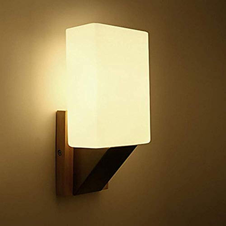 WENYAO Wandleuchte Modern Minimalist Massivholz Schlafzimmer Nachttischlampe Balkon Licht