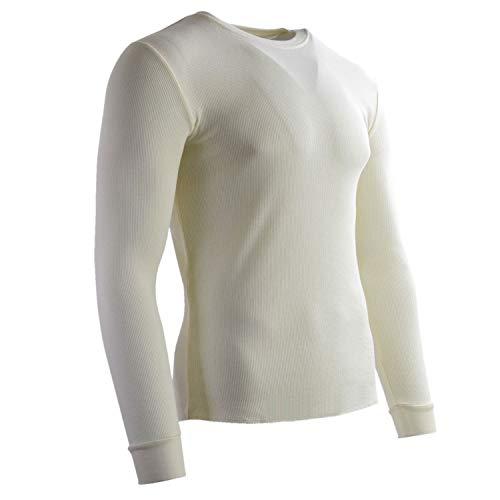 Camisetas Térmica Hombre Invierno Leve Manga Larga Cuello Redondo Ropa Interior