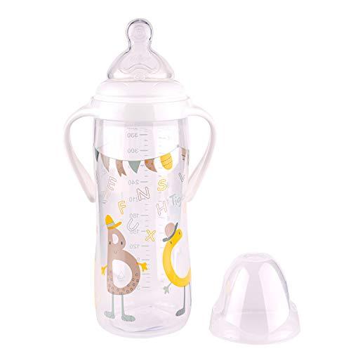 Tigex Multiflow biberon avec poignées amovibles et capuchon antifuite, 360ml, à partir de 6mois, sans BPA, jaune et marron [Garçon]
