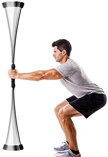 Pilates Reformer Plegable Barra de flexión Arm Tremor Barexercise Bar Frequency Shake Weight, Training and Shoulder Rehabilitation Equipment para ejercicio, pérdida de peso y fitness Accesorios para