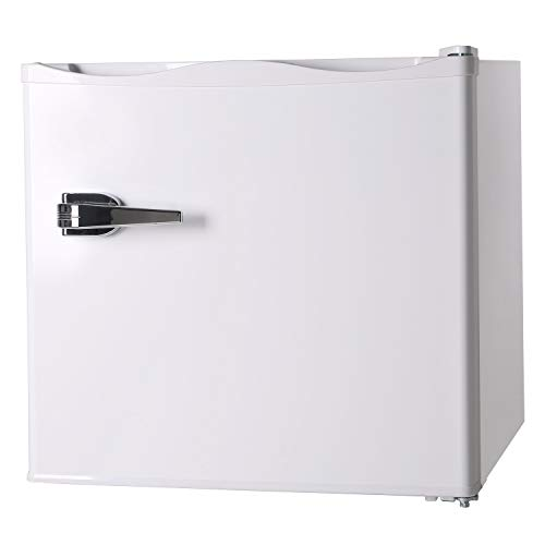 RMYHOME 1.2 Cu.ft Compact Upright Freezer, Mini Freezer with Single Door and Shelf, Adjustable Leveling legs, Cold Storage of Food & Beverage for Home, Office, Dormitory, Apartment, White