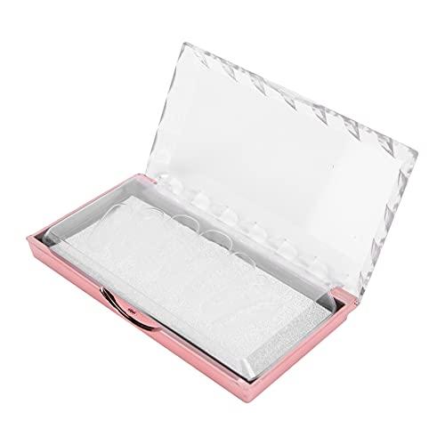 Boîte de rangement de faux ongles de salon, opération simple de boîte de faux ongles portable flexible pour le magasin de manucure pour le ménage