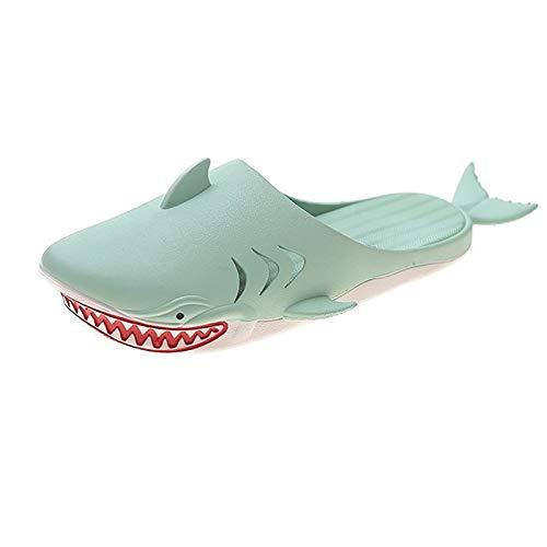 DPZCHI Pescado Zapatillas Unisex Creativo Funny Beach Fish Chanclas y Sandalias Piscina