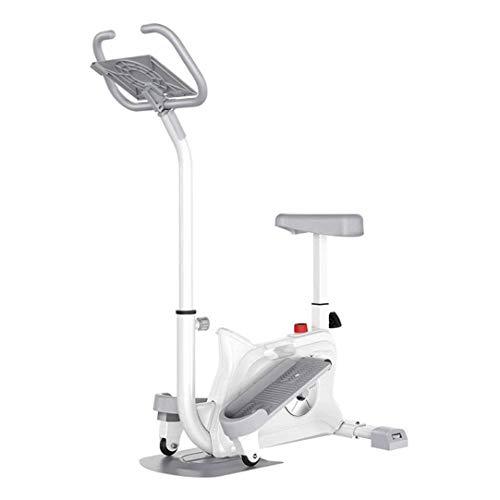 SAFGH Máquina elíptica magnética con Monitor LCD, apretones de frecuencia de Pulso, Entrenamiento físico, construcción de músculos, pérdida de Peso