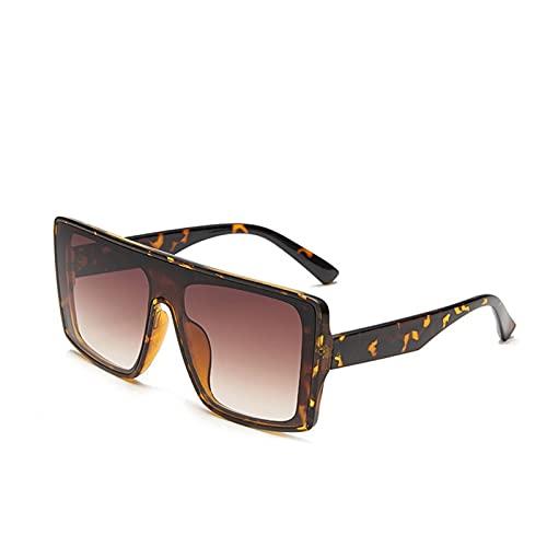 AMFG Big Frame Fashion Gafas de sol Hombres y mujeres Trend Gafas de sol Conducción al aire libre Espejos (Color : E)