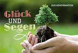 Wenskaart geluk en zegen voor confirmatie (6 stuks) plant Georg Schwikart