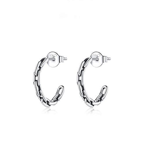 YouLpoet 925 Sterling Silver Hoops Pendientes para Mujeres, Anillo De Oído Allergy Free Christmas Birthday Jeweltery Regalo