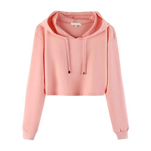 Sweet Bei J Mädchen Hoodie Cropped Pullover Mit Kapuze Kurz Sweatshirts Rosa M