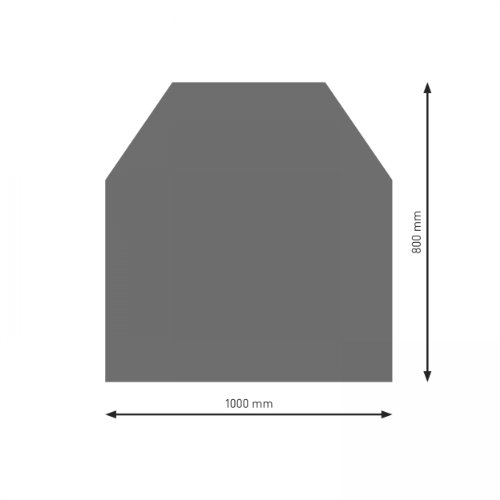 Schindler + Hofmann PU052-1B2-gg Bodenplatte B2 6-Eck gussgrau pulverbeschichtet 1000 x 1000 mm