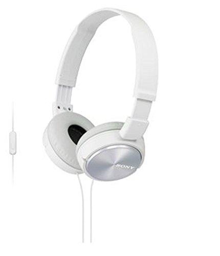 Sony ZX Series MDR-ZX310AP/W Headband Stereo Headset (White)