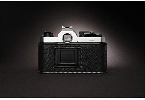 STTY Funda de Cuero Genuino para cámara/Base de cámara Hecha a Mano para Nikon FM2, FM, FM2N, FE, FE2, FMЗA,Negro,FM2 FMZN FE FE2